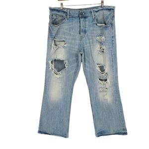 American Eagle Destroyed Straight Leg Jeans 38